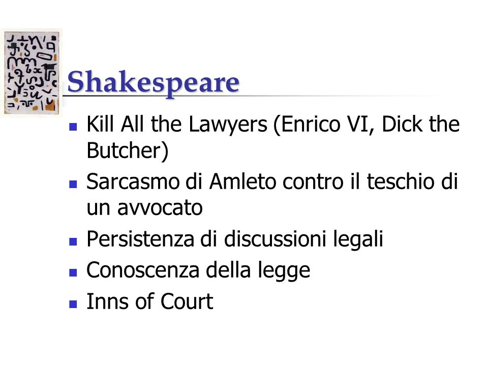 Shakespeare Kill All the Lawyers (Enrico VI, Dick the Butcher)