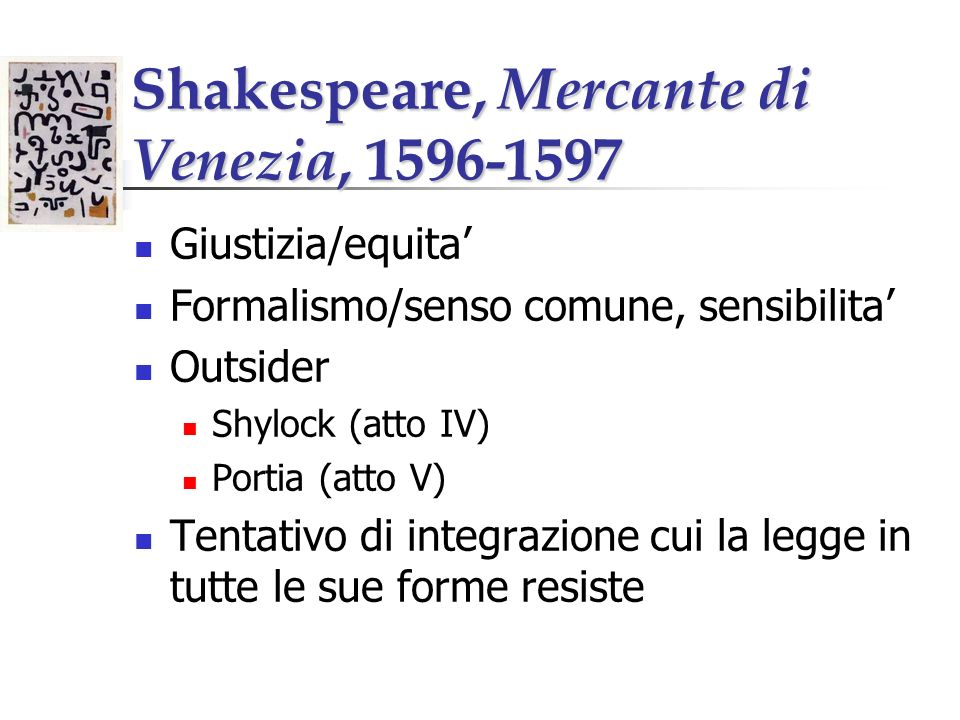 Shakespeare, Mercante di Venezia,