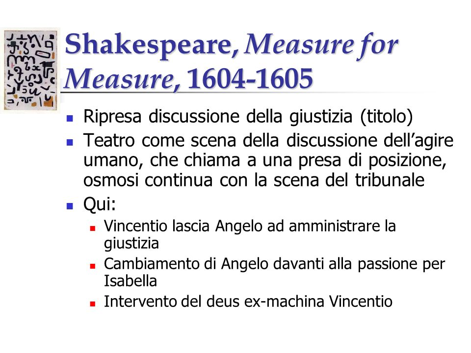 Shakespeare, Measure for Measure, 1604-1605