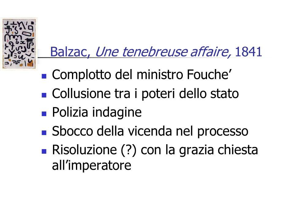 Balzac, Une tenebreuse affaire, 1841