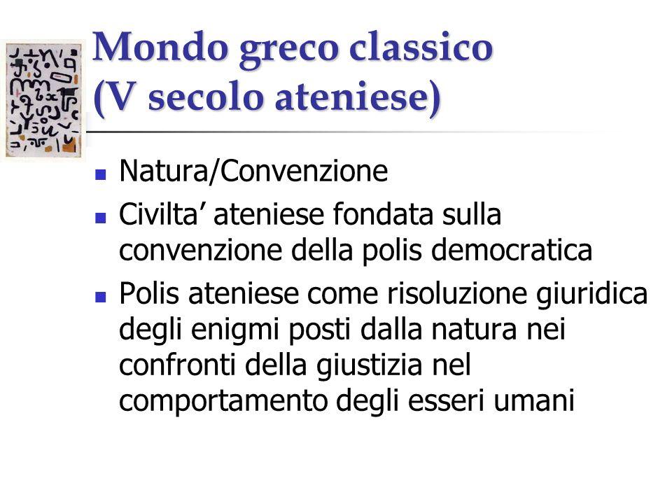 Mondo greco classico (V secolo ateniese)