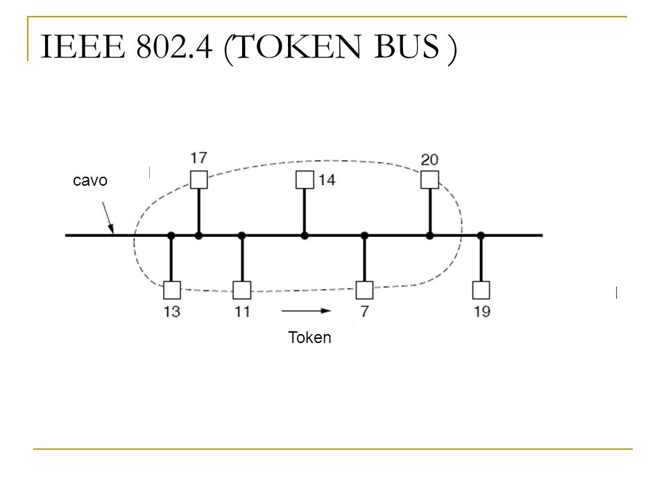IEEE 802.4 (TOKEN BUS ) cavo Token