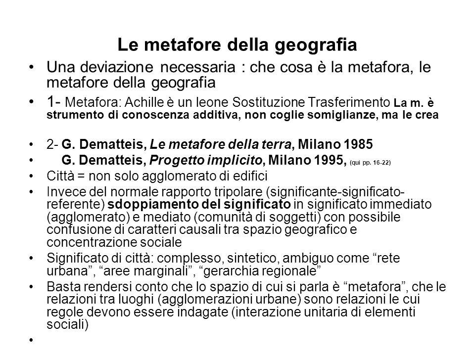 Le metafore della geografia