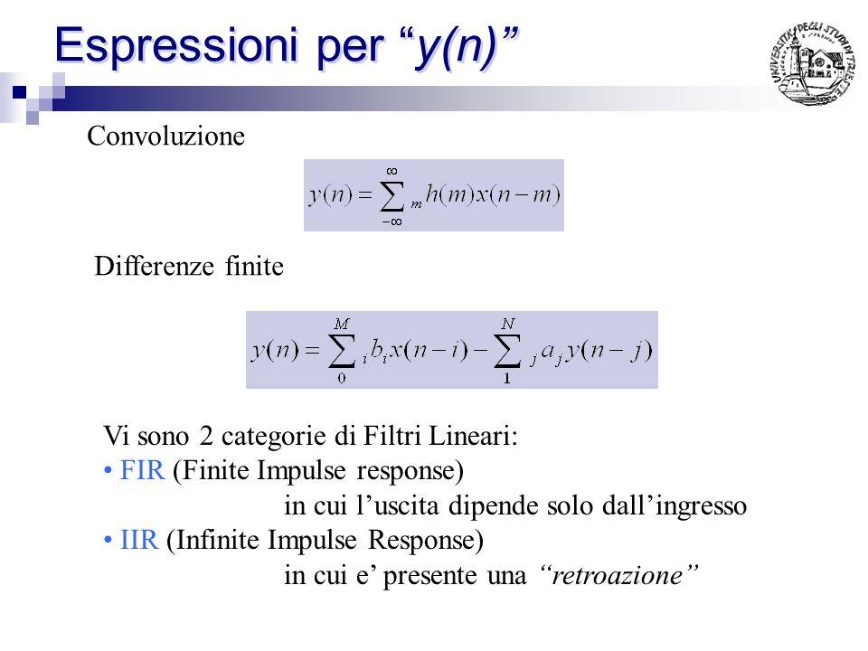 Espressioni per y(n)