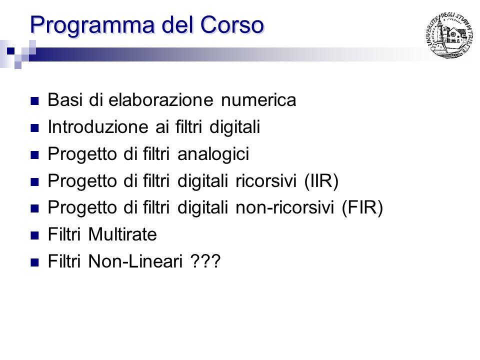 Programma del Corso Basi di elaborazione numerica