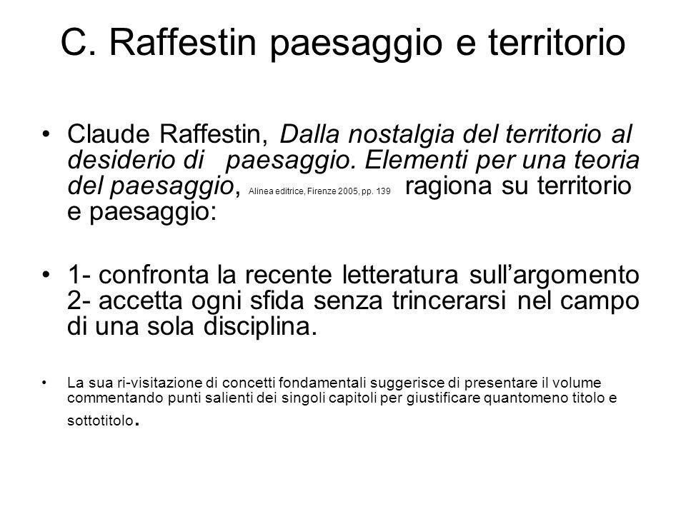 C. Raffestin paesaggio e territorio