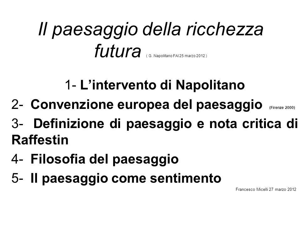 1- L'intervento di Napolitano