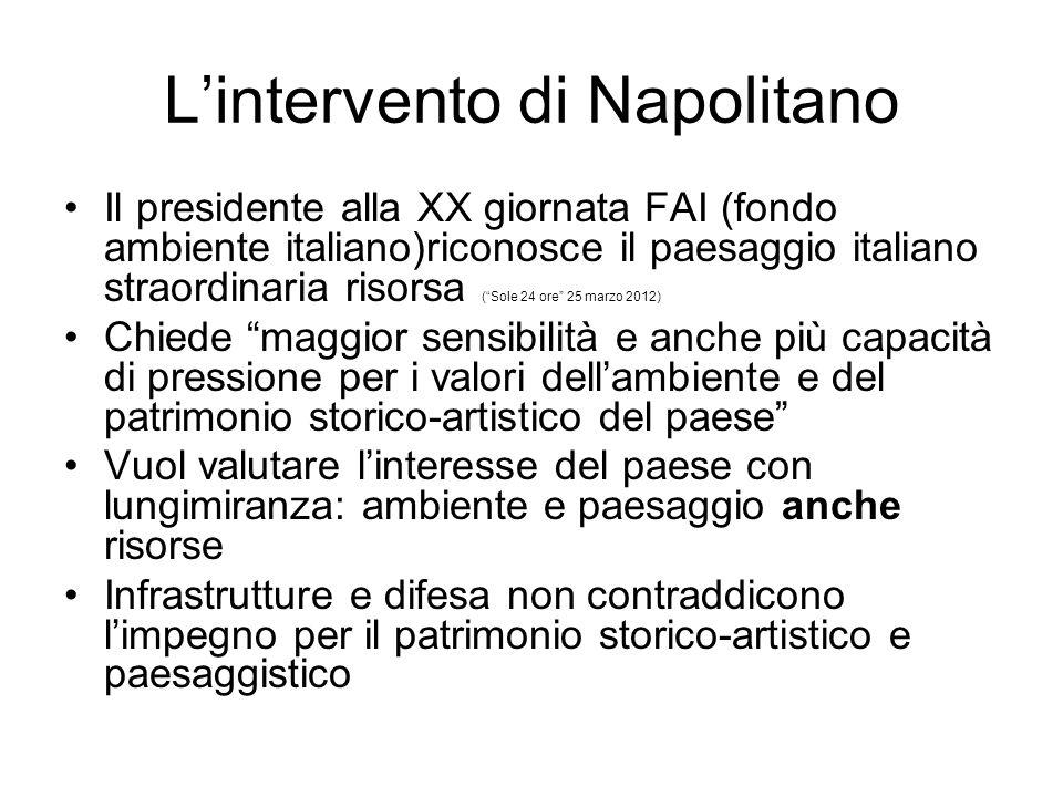 L'intervento di Napolitano