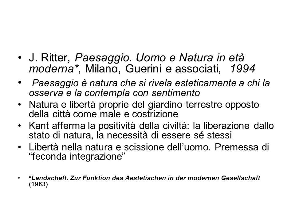 J. Ritter, Paesaggio. Uomo e Natura in età moderna