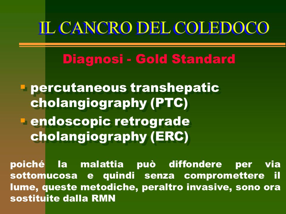 Diagnosi - Gold Standard