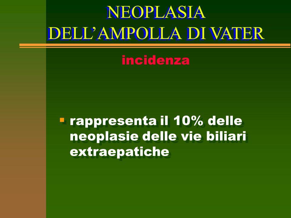NEOPLASIA DELL'AMPOLLA DI VATER incidenza