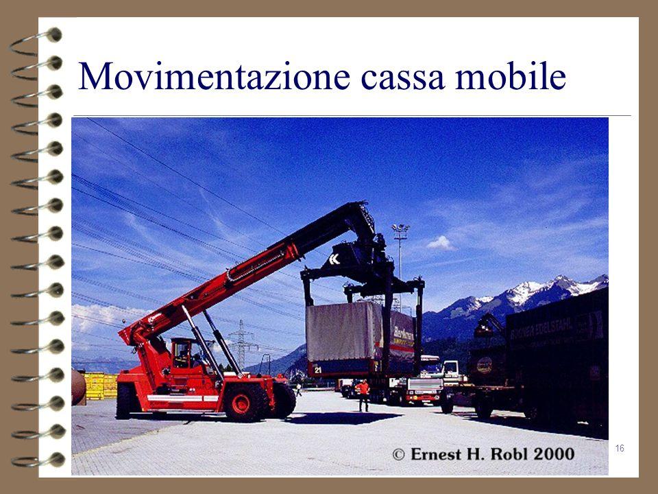 Movimentazione cassa mobile