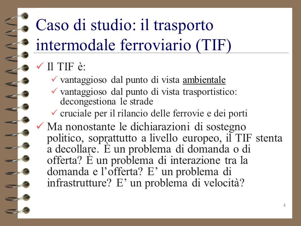 Caso di studio: il trasporto intermodale ferroviario (TIF)
