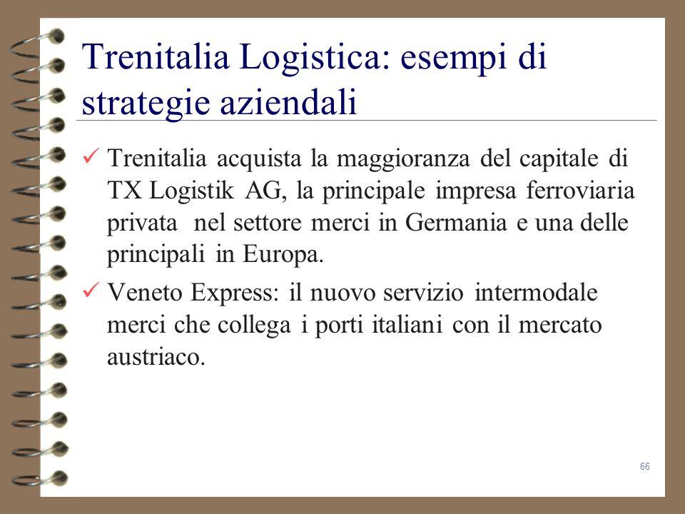 Trenitalia Logistica: esempi di strategie aziendali