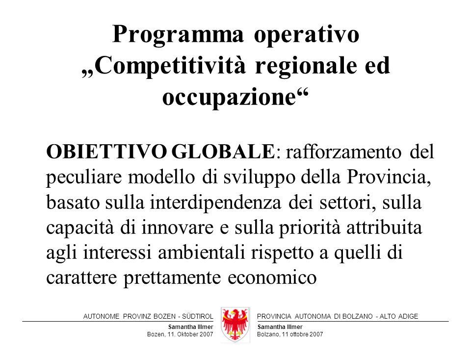 """Programma operativo """"Competitività regionale ed occupazione"""