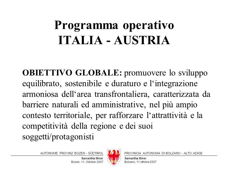 Programma operativo ITALIA - AUSTRIA