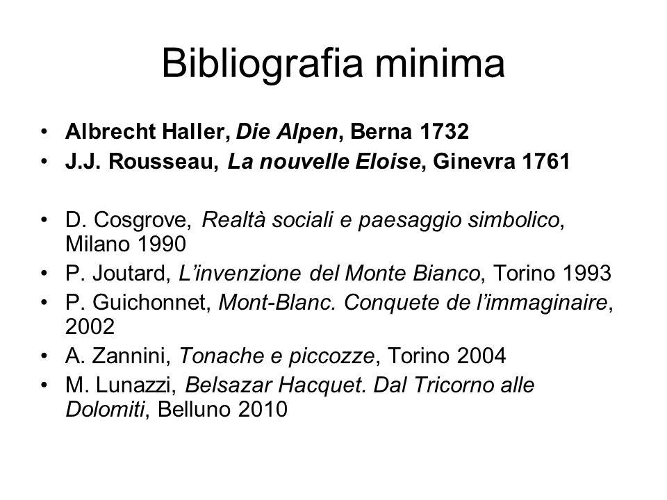 Bibliografia minima Albrecht Haller, Die Alpen, Berna 1732
