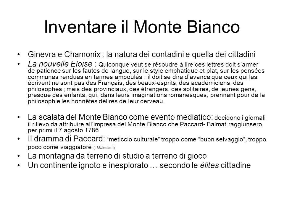 Inventare il Monte Bianco