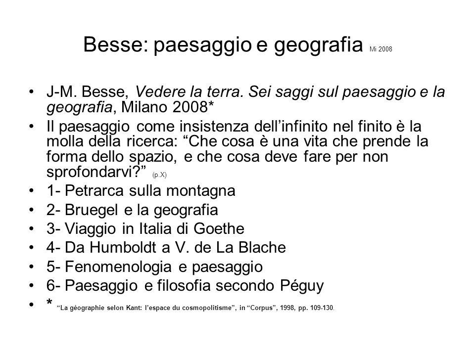 Besse: paesaggio e geografia Mi 2008