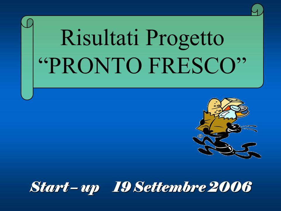Risultati Progetto PRONTO FRESCO