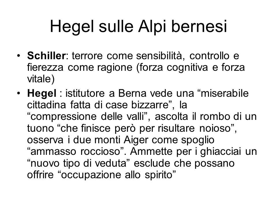Hegel sulle Alpi bernesi