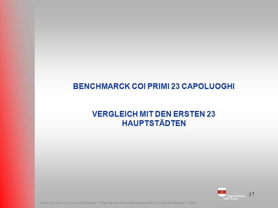 BENCHMARCK COI PRIMI 23 CAPOLUOGHI