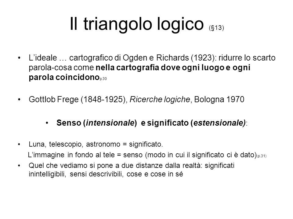 Il triangolo logico (§13)