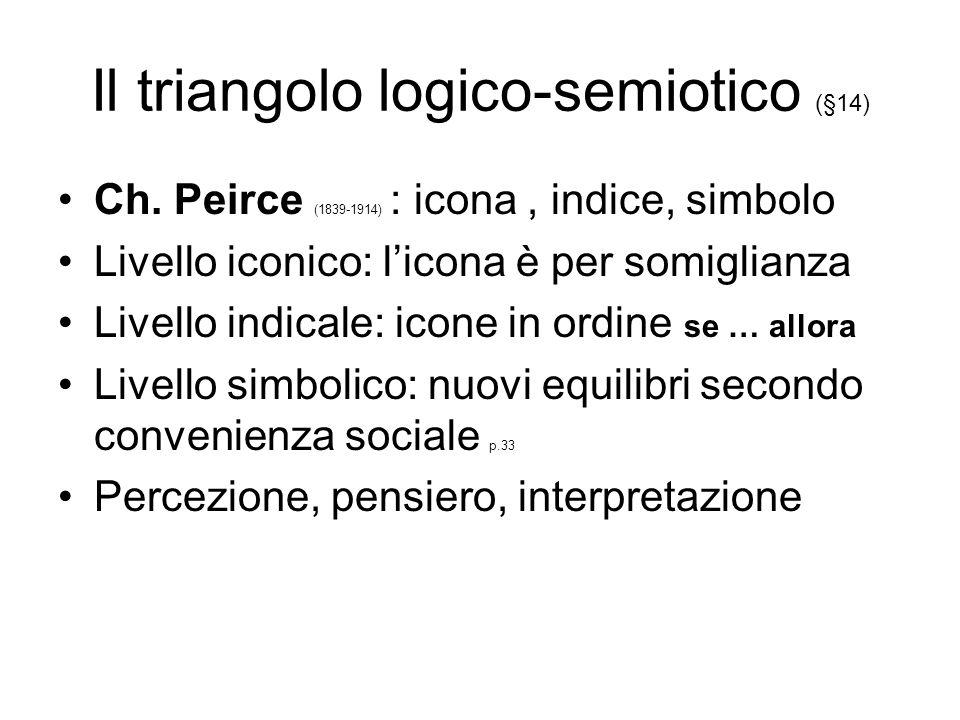 Il triangolo logico-semiotico (§14)