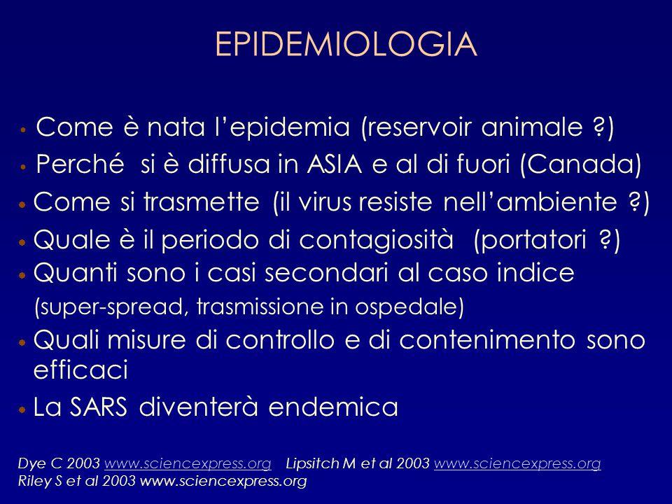 EPIDEMIOLOGIA Come è nata l'epidemia (reservoir animale )