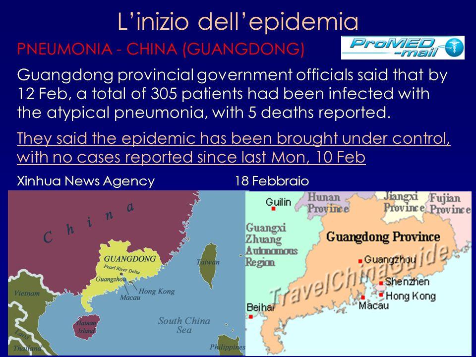 L'inizio dell'epidemia