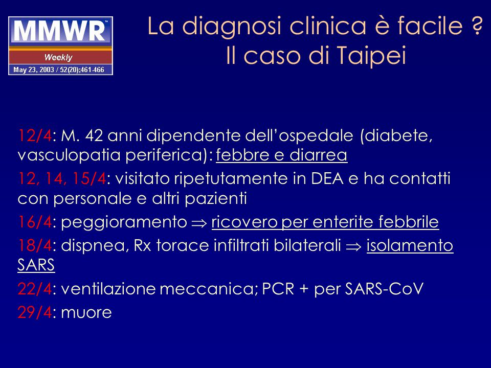 La diagnosi clinica è facile