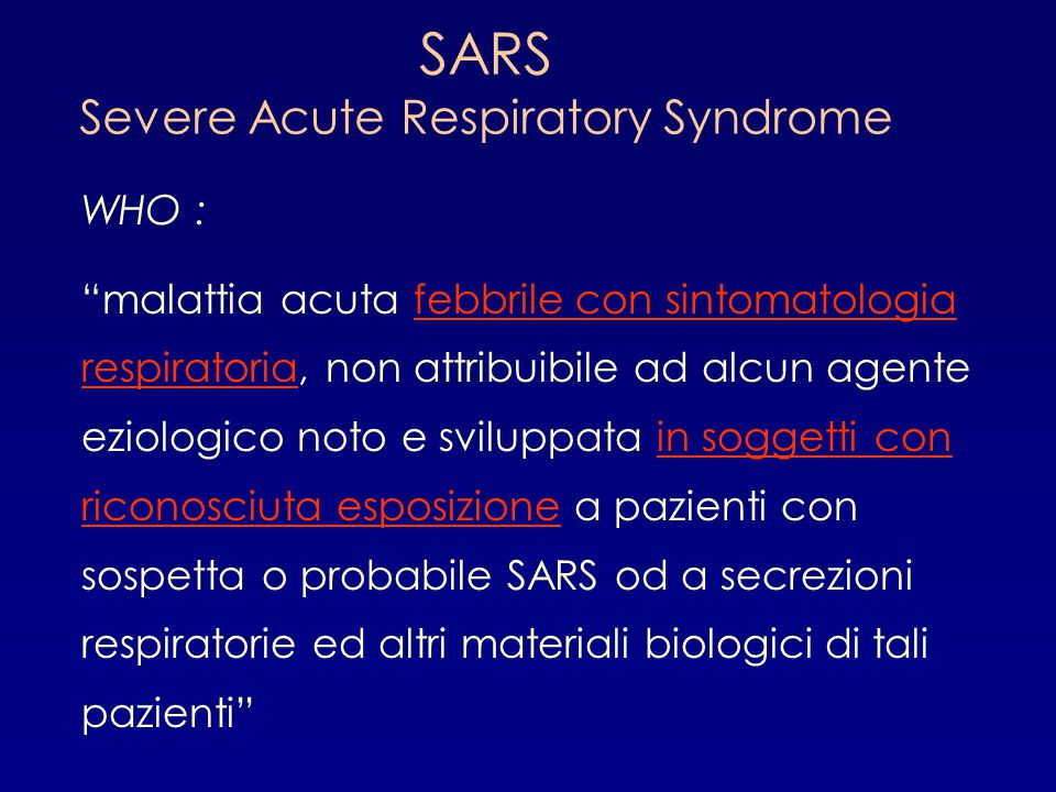 an introduction to the issue of sars serve acute respiratory syndrome Review article from the new england journal of medicine — the severe acute respiratory syndrome current issue current has been severe respiratory.