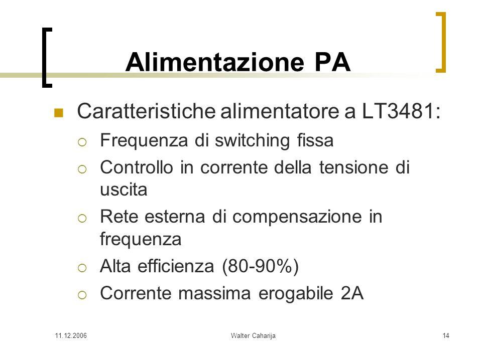 Alimentazione PA Caratteristiche alimentatore a LT3481: