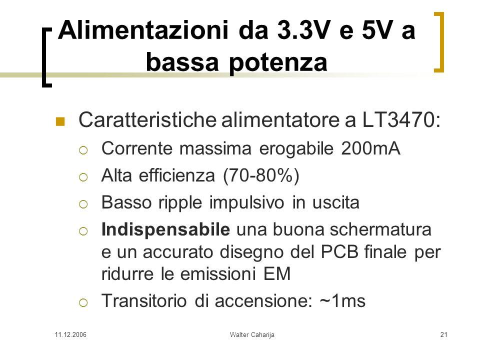 Alimentazioni da 3.3V e 5V a bassa potenza