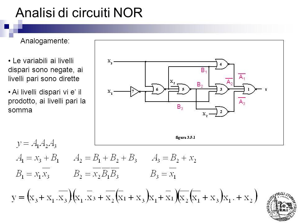 Analisi di circuiti NOR