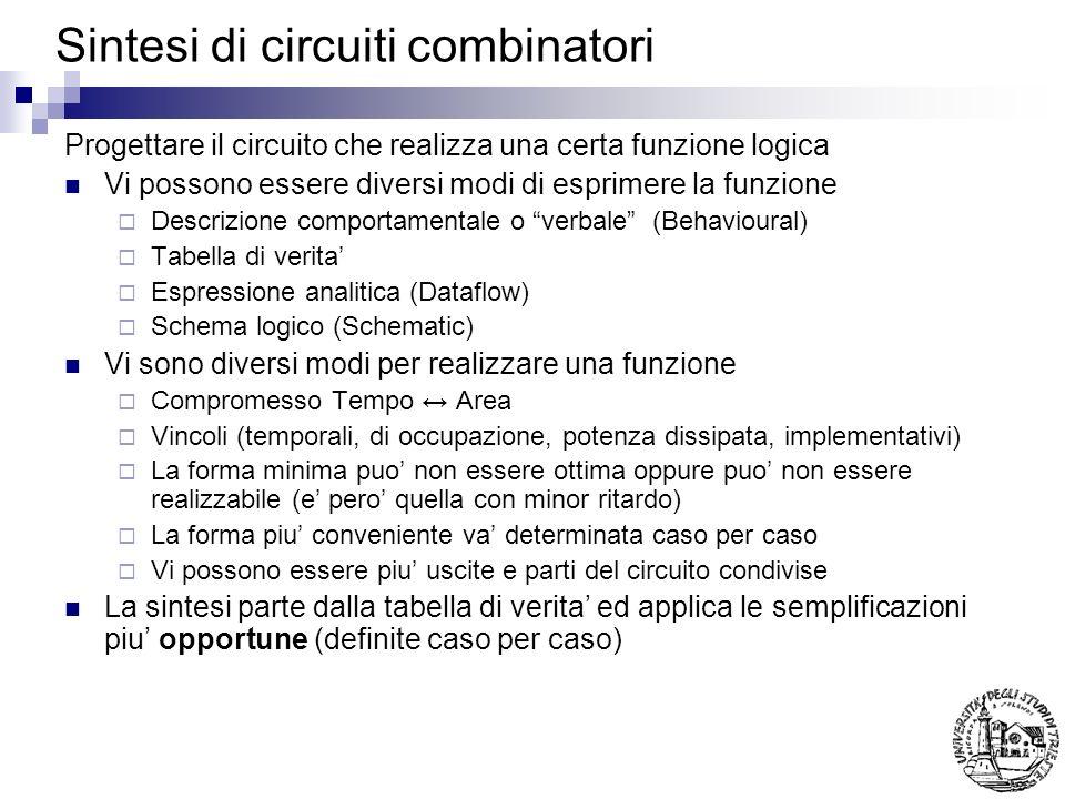 Sintesi di circuiti combinatori