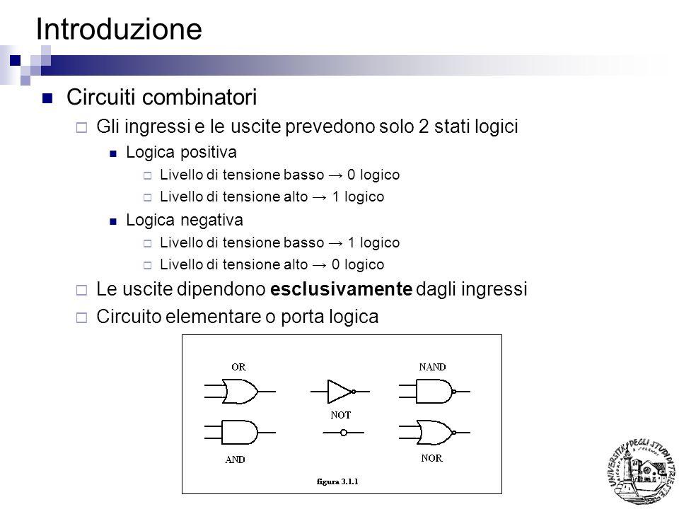 Introduzione Circuiti combinatori