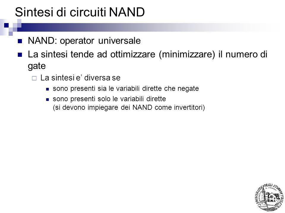 Sintesi di circuiti NAND