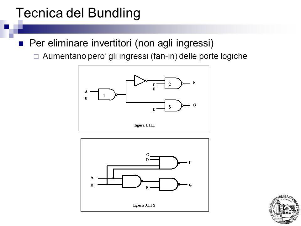 Tecnica del Bundling Per eliminare invertitori (non agli ingressi)