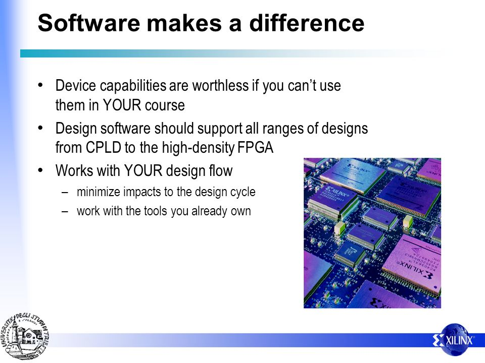 Software makes a difference