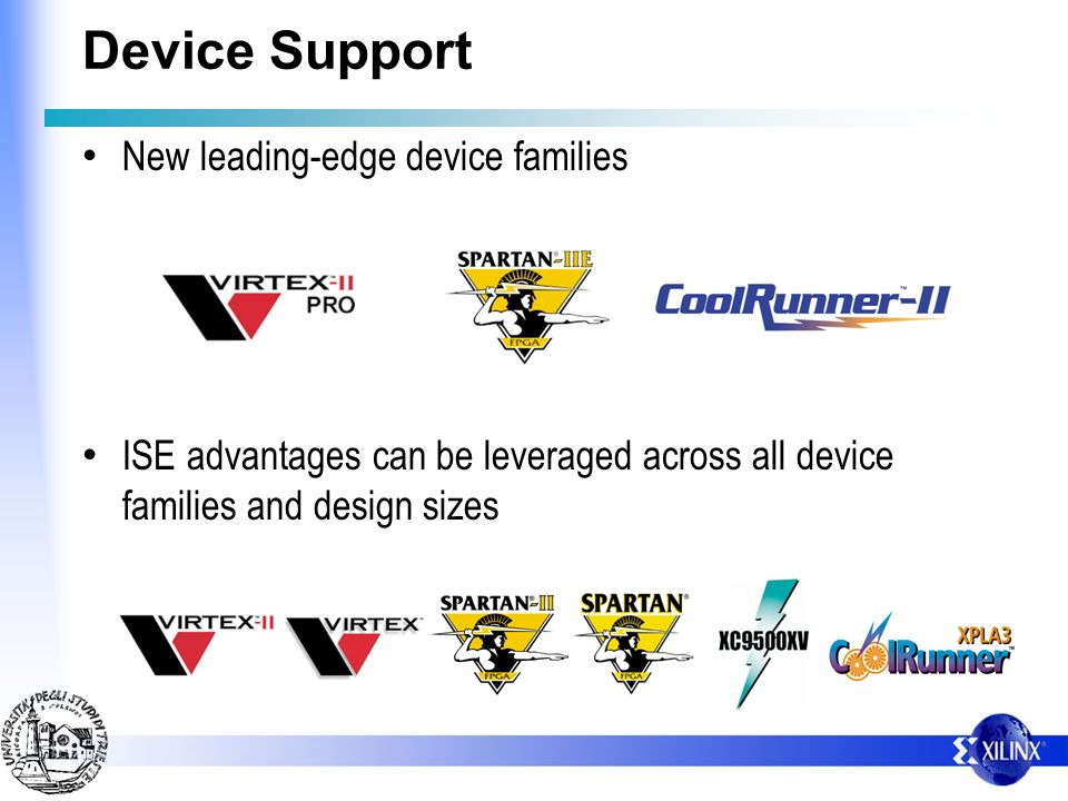 Device Support New leading-edge device families