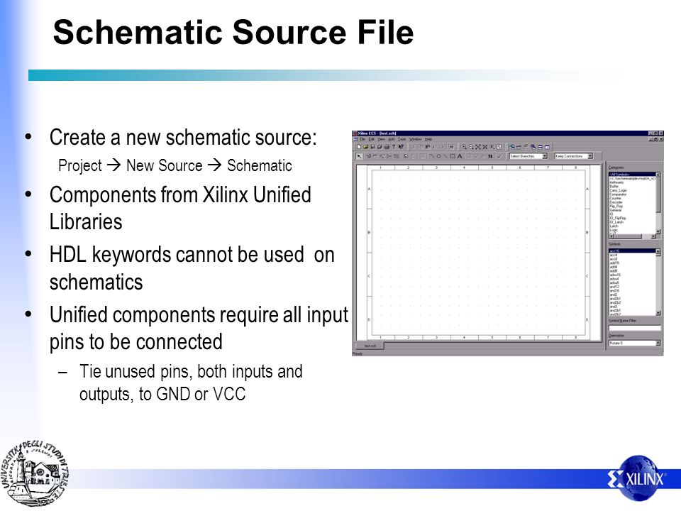 Schematic Source File Create a new schematic source: