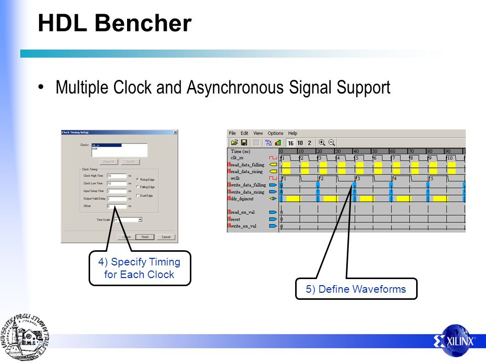 HDL Bencher Multiple Clock and Asynchronous Signal Support