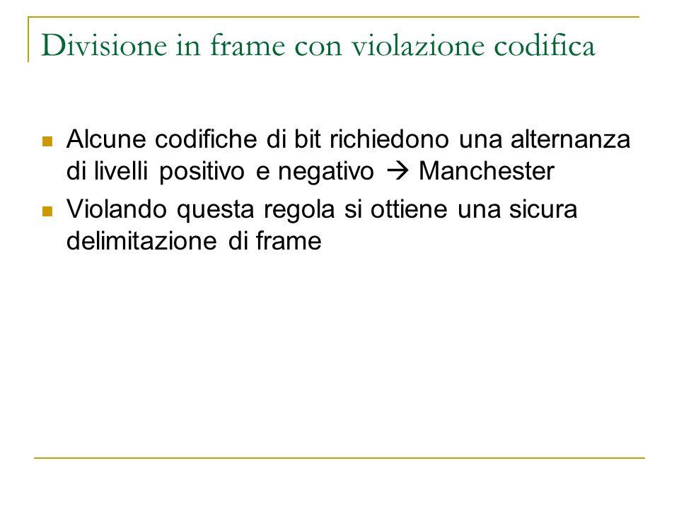 Divisione in frame con violazione codifica