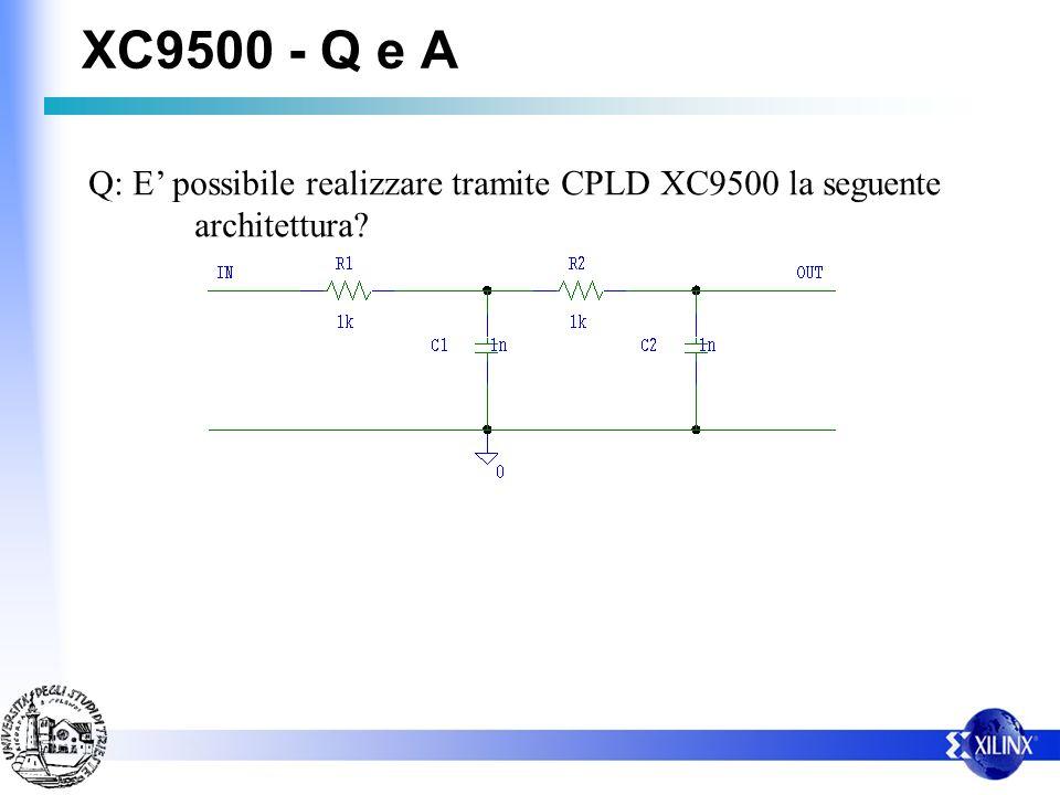 XC9500 - Q e A Q: E' possibile realizzare tramite CPLD XC9500 la seguente architettura