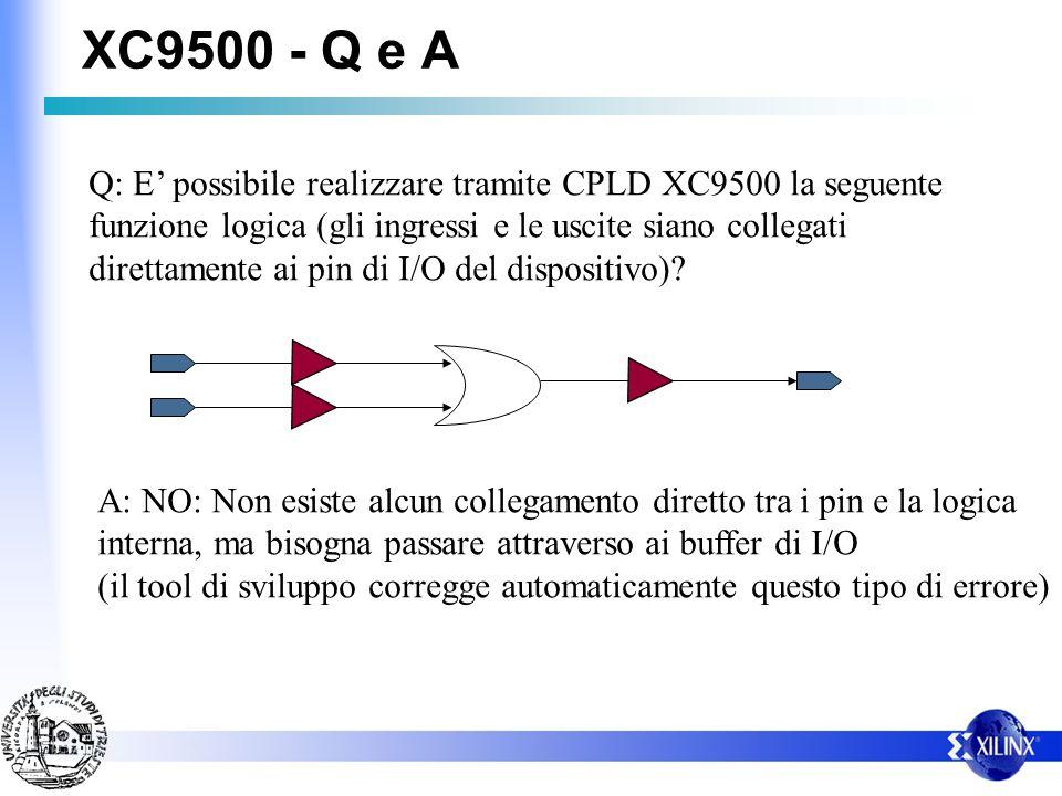 XC9500 - Q e A
