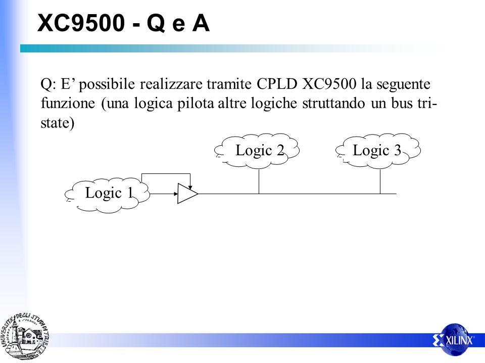 XC9500 - Q e A Q: E' possibile realizzare tramite CPLD XC9500 la seguente funzione (una logica pilota altre logiche struttando un bus tri-state)