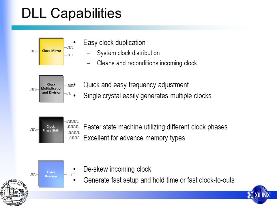 DLL Capabilities Easy clock duplication