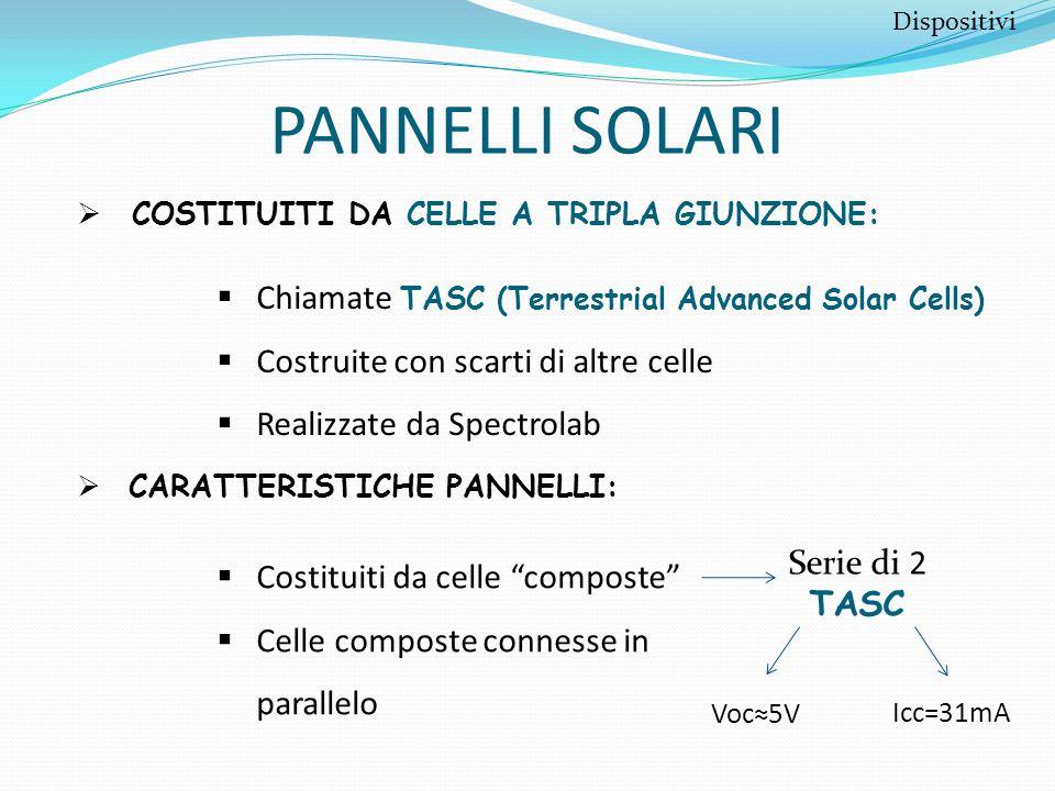 PANNELLI SOLARI Chiamate TASC (Terrestrial Advanced Solar Cells)