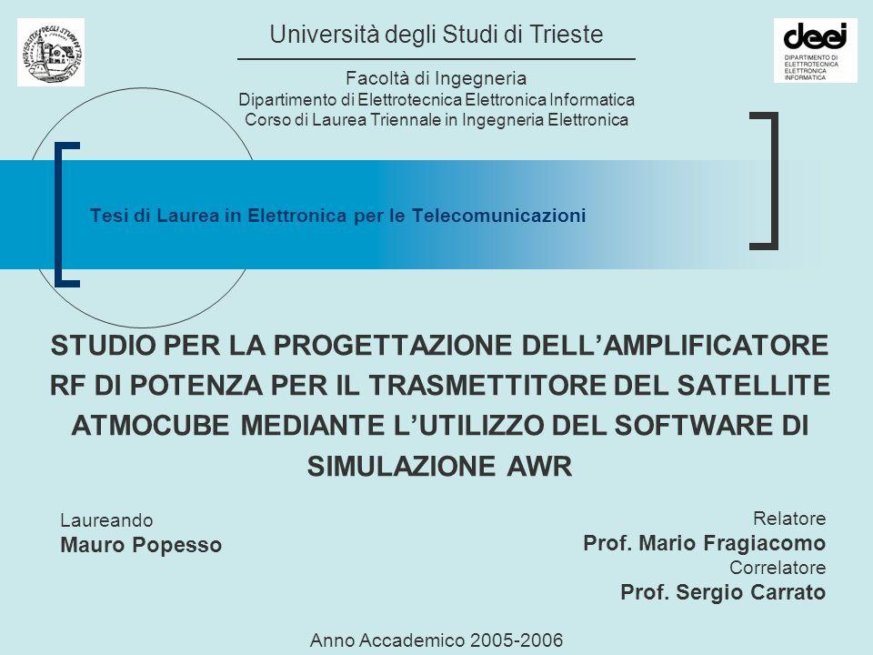 Tesi di Laurea in Elettronica per le Telecomunicazioni